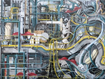 Oil Refinary Painting